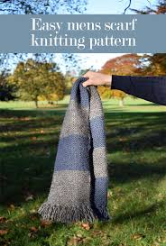 25 Unique Mens Scarf Knitting Pattern Ideas On Pinterest