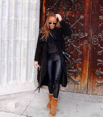 shoes boots ugg boots winter boots pants black pants leather pants black leather pants coat black