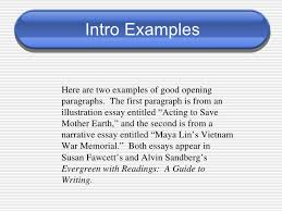 introduction paragraph for narrative essay personal narrative writing the introduction slideshare