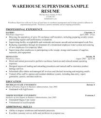 Good warehouse resume