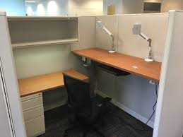 cubicle with height adjule standing desk jpg
