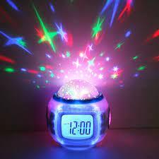Gökyüzü yıldız çocuk bebek odası gece ışık projektör lambası yatak odası müzik  çalar saat|alarm clock|music alarm clockclock alarm clock - AliExpress