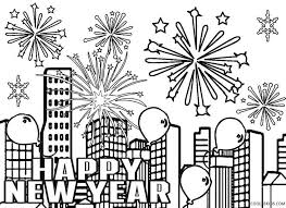 History and origin of the new year : Printable New Year 2018 Coloring Pages