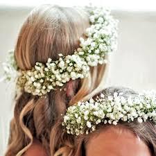 hair flowers gypsophila bridesmaid flower crown