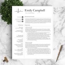 Nurse Resume Template For Word Pages By Landeddesignstudio