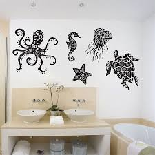 sea animals octopus simple jellyfish wall decal