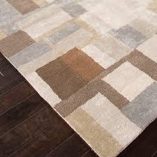 blue area rug silk gray brown