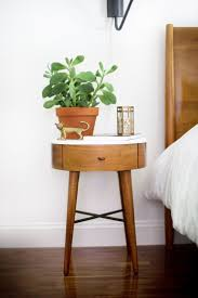 contemporary round bedside tables with wooden varnish nightstand with regard to sizing 736 x 1104