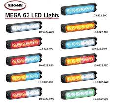 able2 sho me mega 63 led lighthead series 10 6322 from swps com Sho Me Charger Rear Lighting at Sho Me Led Flasher Wire Diagram