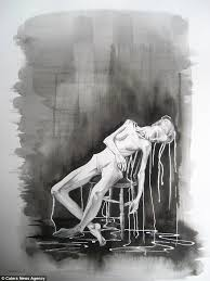 anorexic face drawing.  Drawing Her U0027dark And Graphicu0027 Artwork Helped Her Understand What She Was Going  Through On Anorexic Face Drawing E