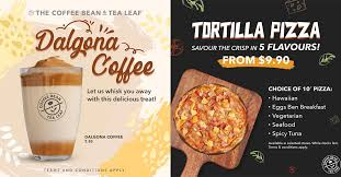With one of only three probat coffee roasters of its kind, ppp coffee is one of the leading specialty coffee roasters in singapore. Coffee Bean S Pore Now Serving Tortilla Pizza Dalgona Coffee That Has Taken The Internet By Storm Great Deals Singapore