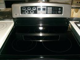 lg glass top stove lg stainless steel 5 burner glass top with convection oven lg glass lg glass top stove