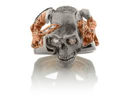 skull king ring 14kt