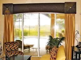 patio door window treatments panels