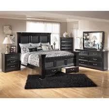 black furniture bedroom ideas. Signature Design By Ashley Furniture Cavallino King Mansion Poster Bed With  Storage Footboard Black Furniture Bedroom Ideas