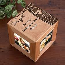 carved in love personalized photo cube wood anniversary gifts for him australia