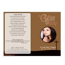 Funeral Cards Template Single Fold Cross Memorial Program Funeral Pamphlets 9