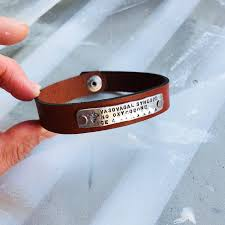 medical id bracelet leather medical alert bracelet leather image 0