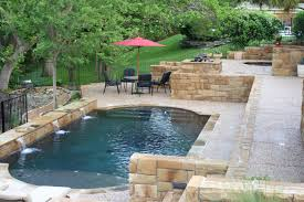 swimming pool: Fabulous Umbrella Combined With Comfortable Outdoor Sitting  Space On Tiled Flooring Placed Beside