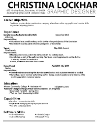 Graphic Designer Resume Objective Sample - April.onthemarch.co