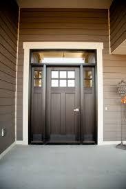 exterior back door with glass. exterior doors | six-lite, craftsman style, fiberglass door, stained ebony, back door with glass