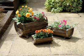 wooden pots for plants designs