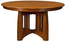 amish mission round pedestal dining table rustic modern solid wood rustic round kitchen table