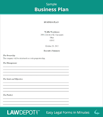 Small Business Plan Template Doc – Francistan Template