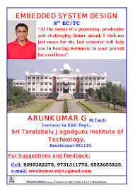 Embedded Systems Design Notes Embedded System Design Notes Written By Arun Kumar G