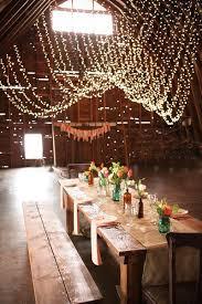 rustic wedding lighting. hanging string bistro lights rustic wedding lighting