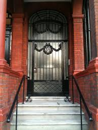 Black Wrought Iron Front Doors : Very Elegant Wrought Iron Front ...