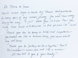 Patient Thank You Notes Algonquin Plastic Surgeon Dr Gunnar Thors