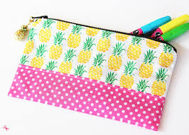 save diy zipper pencil pouch a great project to use up ss and easy enough