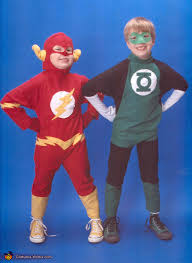 the flash and green lantern superheroes costume