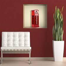 Adesivo murale nicchia cabina telefonica londra