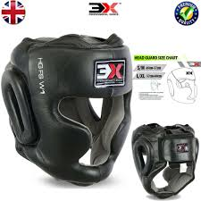 Boxing Head Guard Size Chart 3x Sports Head Guard Cowhide Leather Boxing Mma Protector