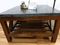 barrel blue stone coffee table