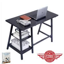 organize home office desk. Computer Desk For Home Office Black Table Furniture Work Workstation Contemporary Small Organize