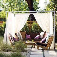 simple outdoor patio ideas.  Simple View In Gallery A DIY Private Cabana For Your Patio For Simple Outdoor Patio Ideas A
