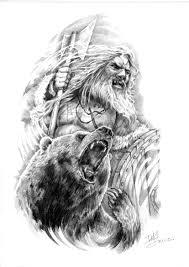 викинг берсерк арт для тату Art татуировка трафареты