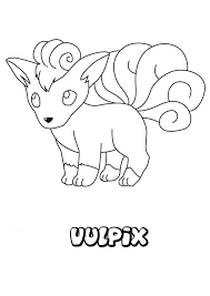 Pixelmon Coloring Pages With Vulpix Pokemon Coloring Page More