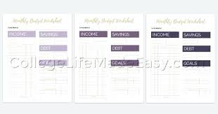 Free Printable Monthly Budget Template Blank Dailystonernews Info