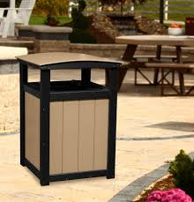 commercial outdoor trash cans. Picture Of LuxCraft Poly Commercial Trash Can Outdoor Cans A