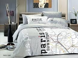 Paris Map Bed Set New Paris Themed Bedding Le297q By Le Vele Price Only 149  For Travel Themed Duvet Covers
