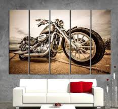 harley davidson wall art motorbike wall