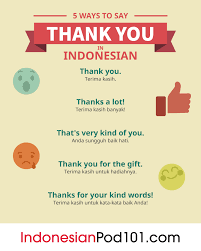 How To Say Thank You In Indonesian Indonesianpod101