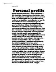 personal profile essay co personal profile essay