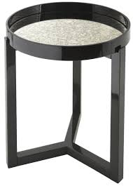 rv astley fyne black gloss round side table