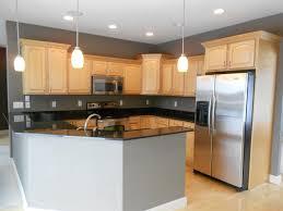 Grey Maple Kitchen Cabinets Gray Kitchen Walls With Maple Cabinets Going Gray Gray Kitchen