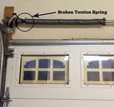 broken garage door torsion springs in austin before broken garage door spring cost